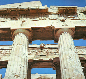 Athenes 7 Parthenon architrave